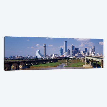 Office Buildings In A City, Dallas, Texas, USA Canvas Print #PIM3643} by Panoramic Images Canvas Wall Art