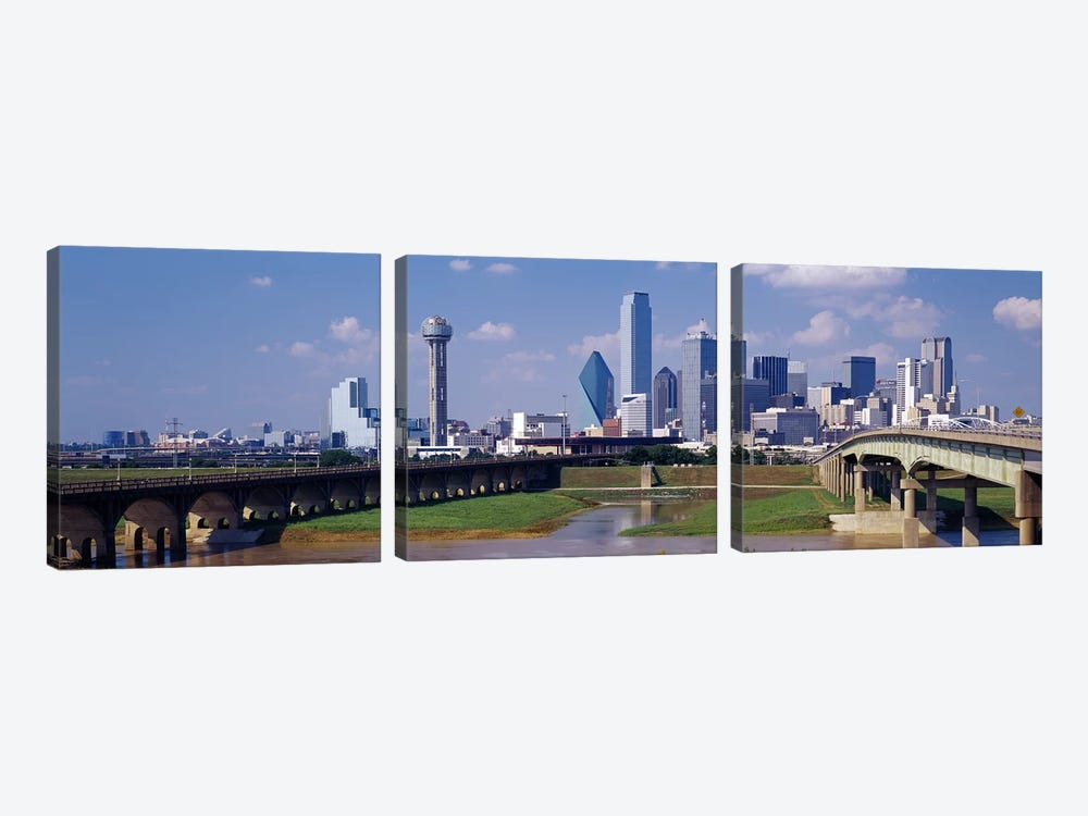 Office Buildings In A City, Dallas, Texas, USA by Panoramic Images 3-piece Canvas Print