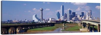 Office Buildings In A City, Dallas, Texas, USA Canvas Art Print
