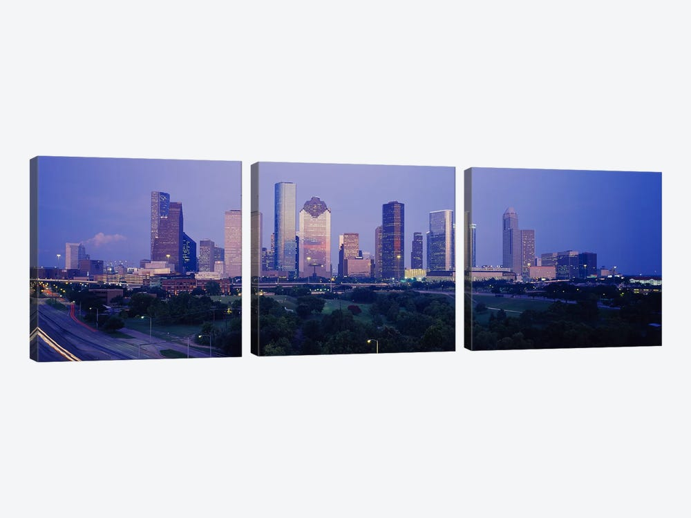Buildings in a city, Houston, Texas, USA #3 by Panoramic Images 3-piece Canvas Wall Art