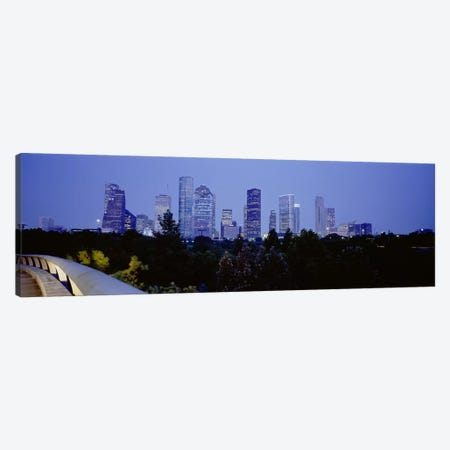 Buildings lit up at duskHouston, Texas, USA Canvas Print #PIM3647} by Panoramic Images Canvas Print