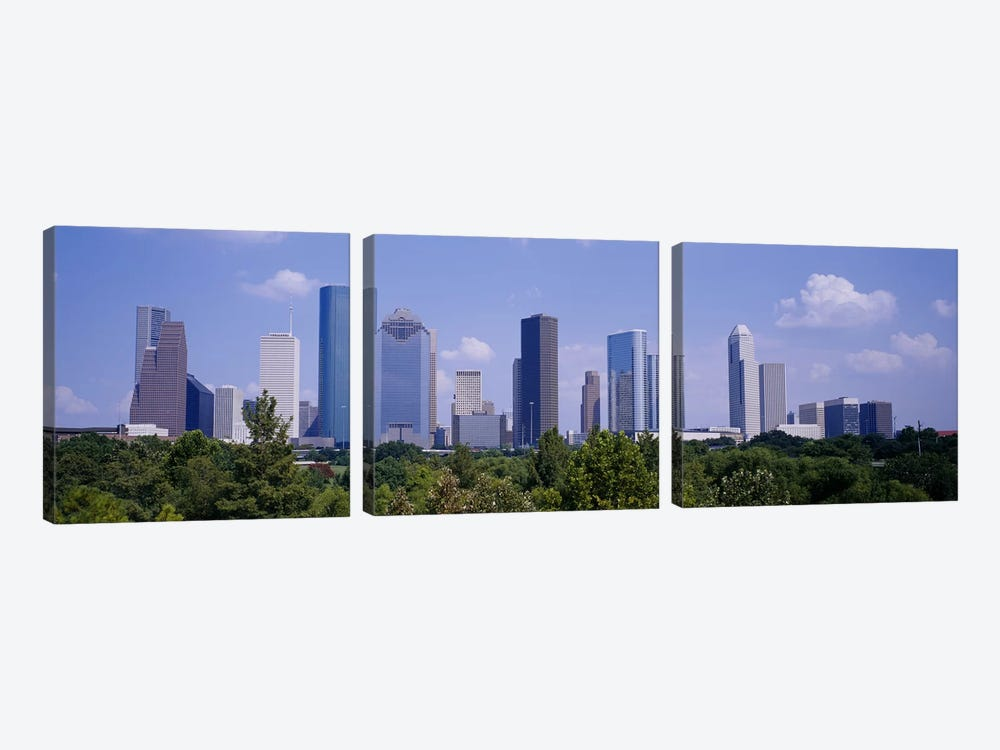 Buildings in a cityHouston, Texas, USA by Panoramic Images 3-piece Canvas Artwork