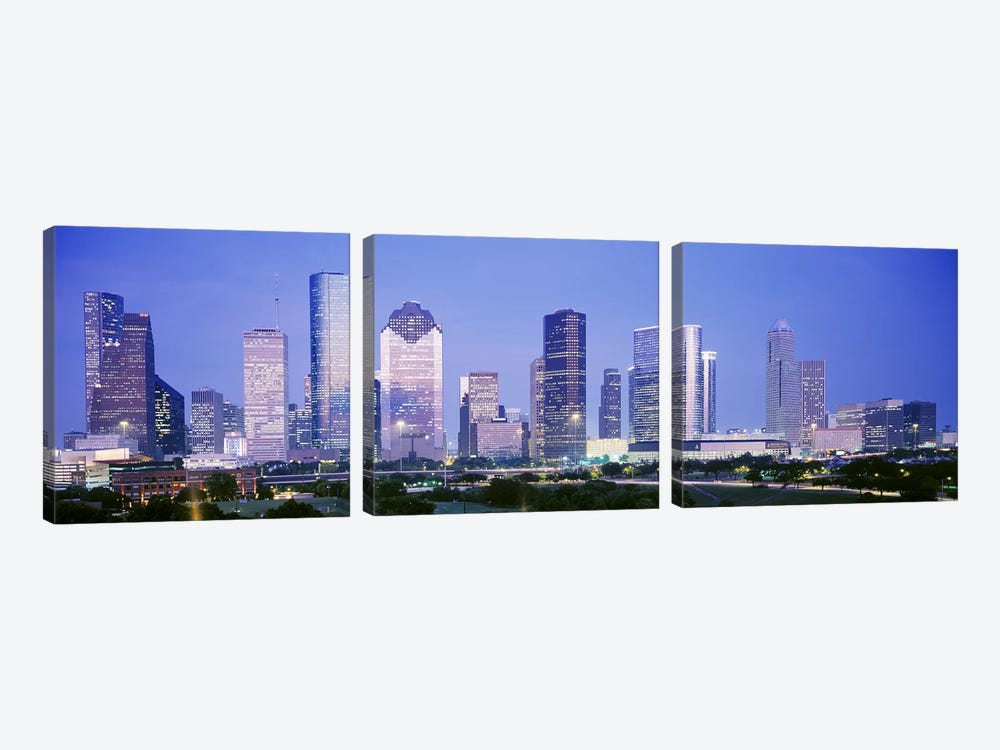 HoustonTexas, USA by Panoramic Images 3-piece Canvas Print