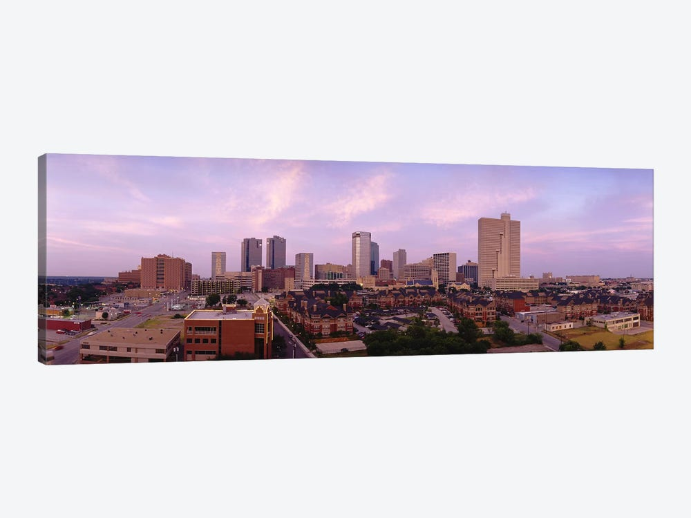 Skyscrapers in a cityFort Worth, Texas, USA by Panoramic Images 1-piece Canvas Art Print