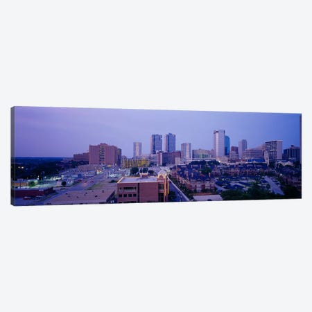 High angle view of a cityFort Worth, Texas, USA Canvas Print #PIM3656} by Panoramic Images Canvas Artwork