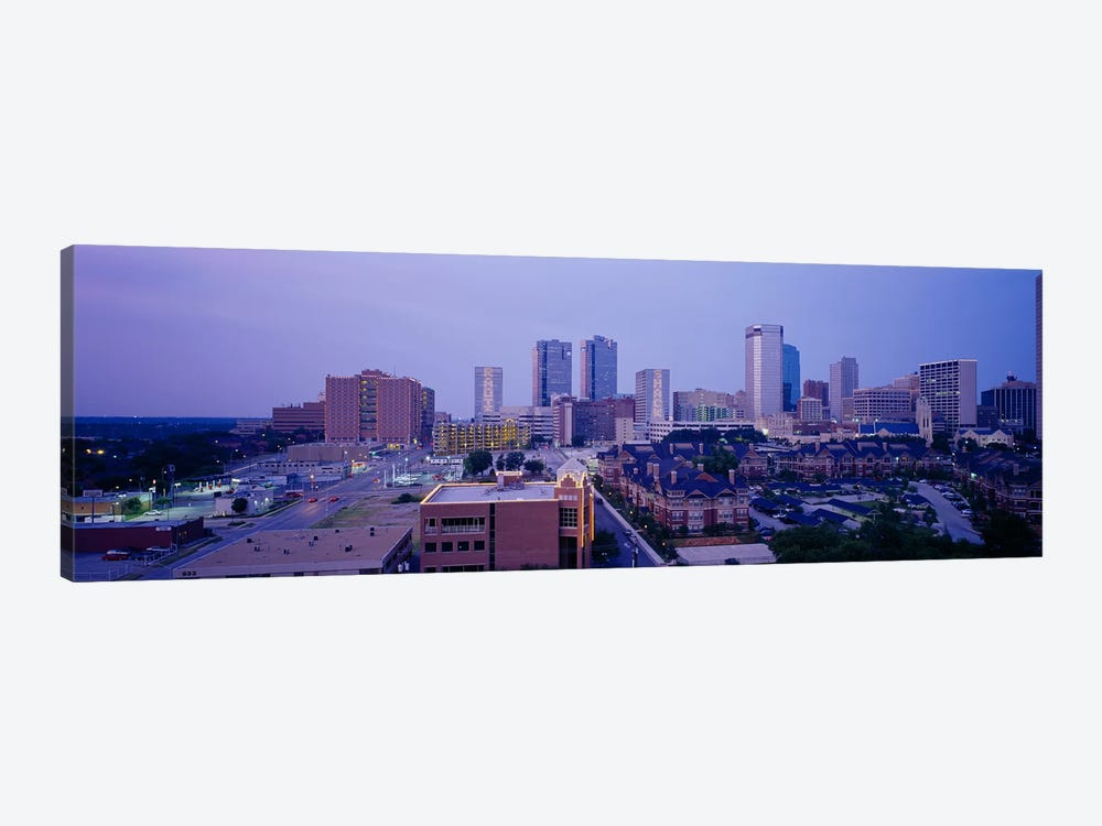 High angle view of a cityFort Worth, Texas, USA by Panoramic Images 1-piece Canvas Art Print