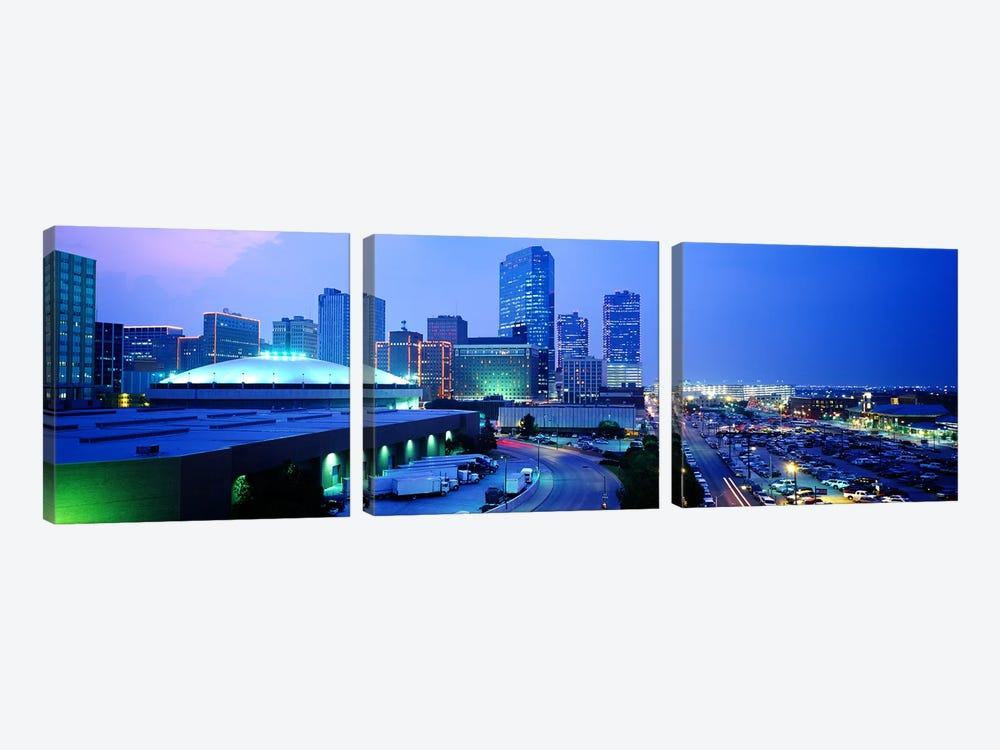 Downtown Skyline, Fort Worth, Texas, USA by Panoramic Images 3-piece Canvas Artwork