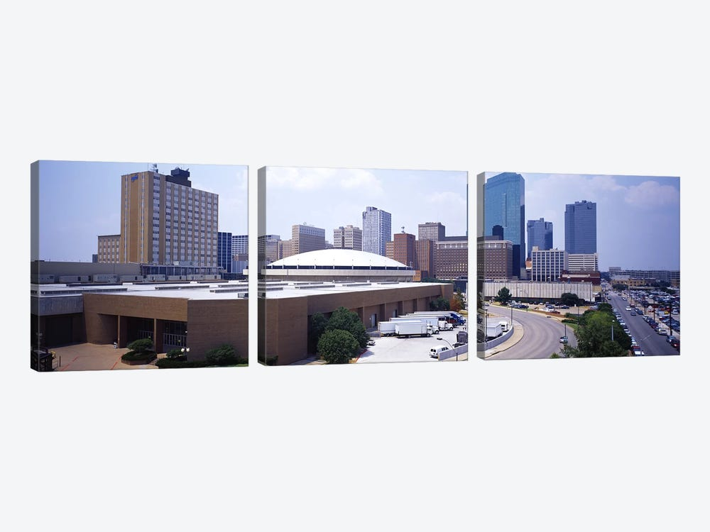 High Angle View of Office Buildings In A CityDallas, Texas, USA by Panoramic Images 3-piece Art Print