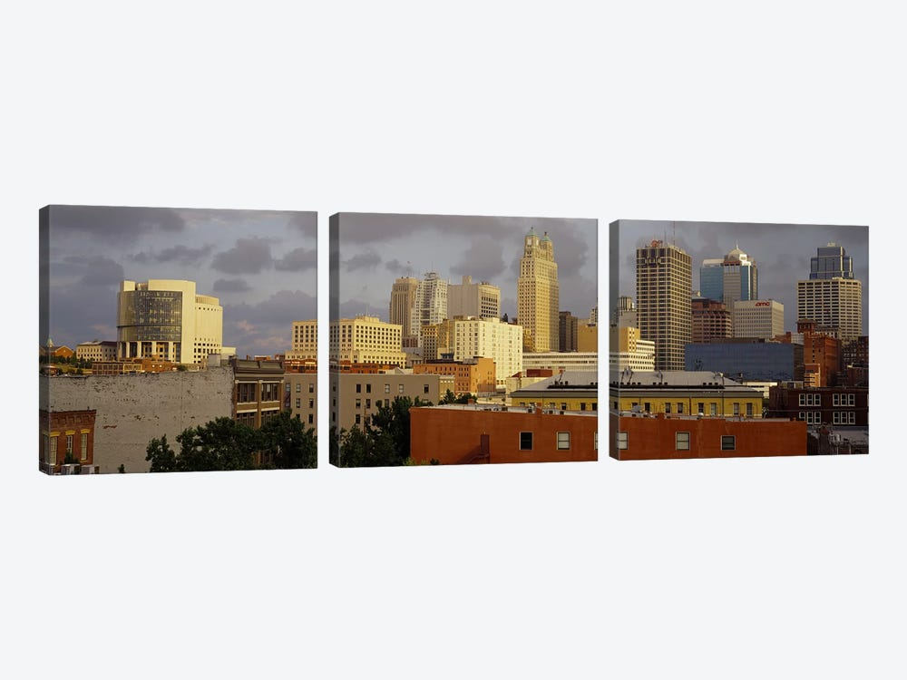 Buildings in a cityKansas City, Missouri, USA by Panoramic Images 3-piece Canvas Wall Art