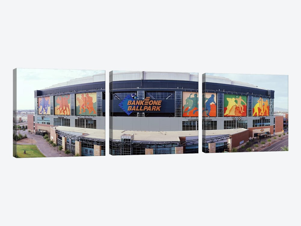 Bank One Ballpark Phoenix AZ by Panoramic Images 3-piece Canvas Wall Art