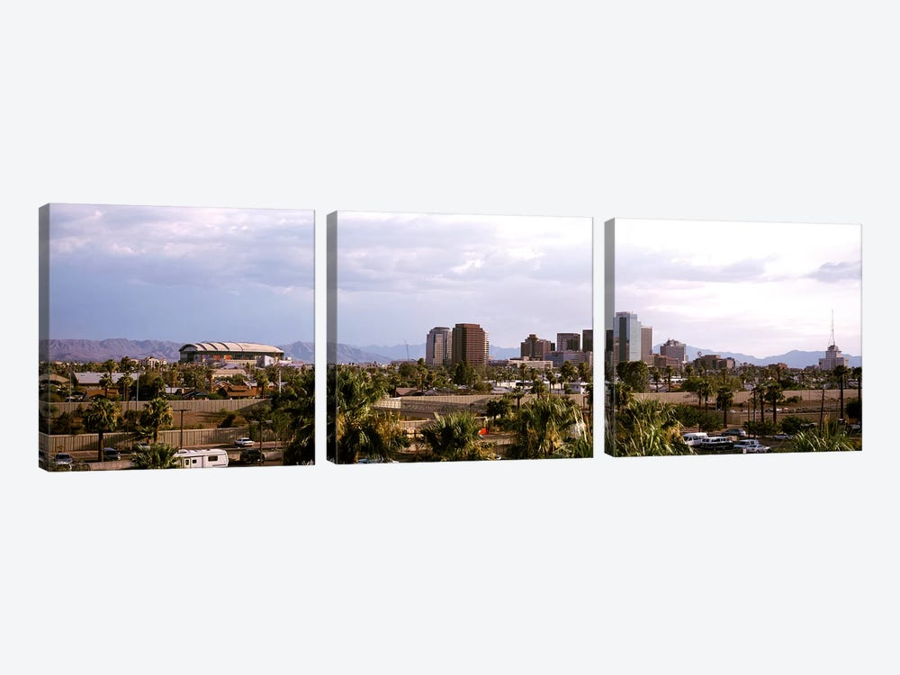 Downtown Skyline, Phoenix, Maricopa County, Arizona, USA by Panoramic Images 3-piece Canvas Wall Art