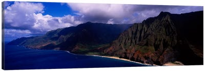 Coastal Landscape, Na Pali Coast State Park, Kaua'i, Hawaii, USA Canvas Art Print