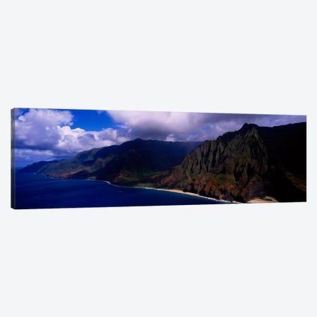 Coastal Landscape, Na Pali Coast State Park, Kaua'i, Hawaii, USA Canvas Print #PIM366} by Panoramic Images Canvas Art