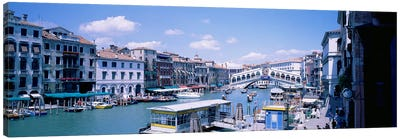 Rialto and Grand Canal Venice Italy Canvas Print #PIM3674