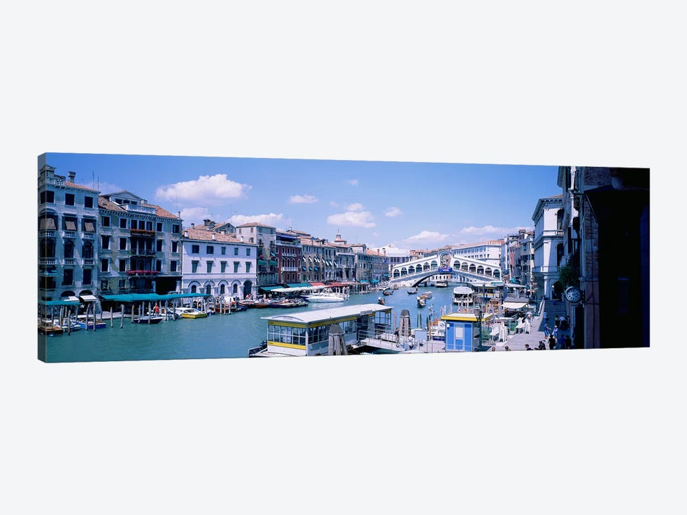 Rialto and Grand Canal Venice Italy by Panoramic Images 1-piece Canvas Art Print