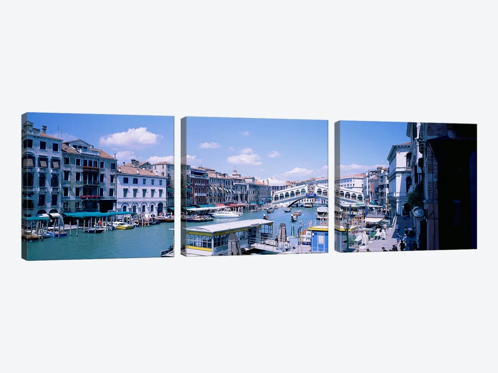 Rialto and Grand Canal Venice Italy by Panoramic Images 3-piece Canvas Art Print