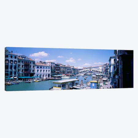 Rialto and Grand Canal Venice Italy Canvas Print #PIM3674} by Panoramic Images Canvas Artwork