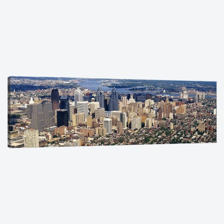 Aerial view of a city, Philadelphia, Pennsylvania, USA #2 Canvas Print #PIM3675} by Panoramic Images Canvas Artwork