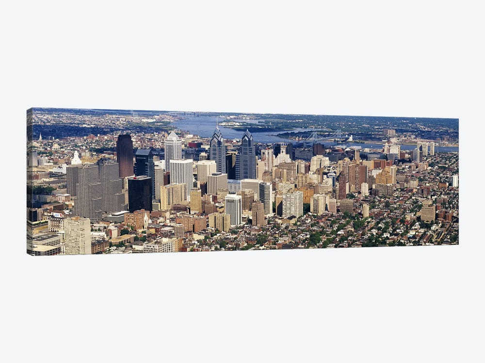 Aerial view of a city, Philadelphia, Pennsylvania, USA #2 by Panoramic Images 1-piece Canvas Art