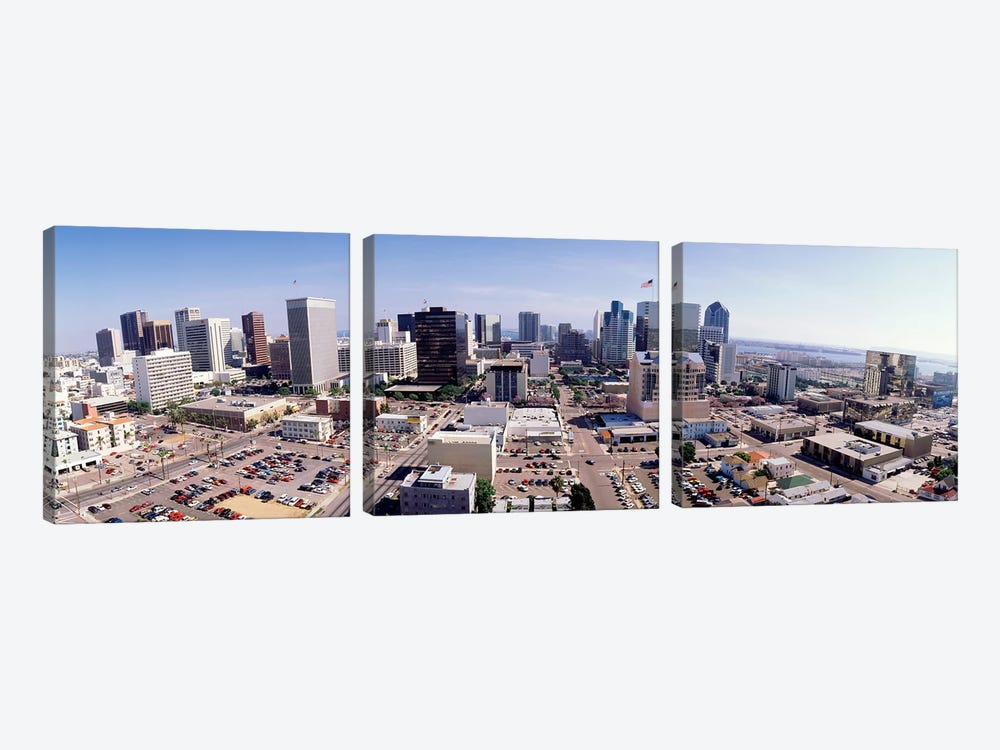 USA, California, San Diego, Downtown District by Panoramic Images 3-piece Art Print
