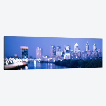 River passing through a city, Schuylkill River, Philadelphia, Pennsylvania, USA Canvas Print #PIM3677} by Panoramic Images Canvas Wall Art