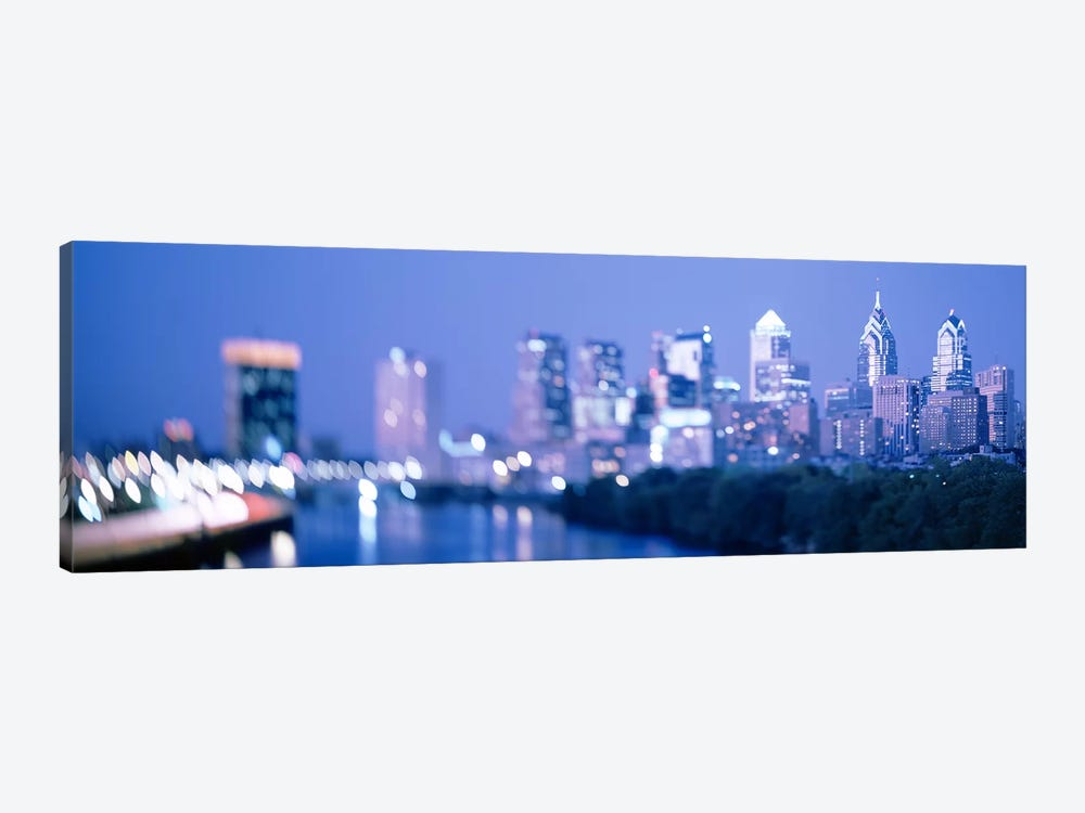 River passing through a city, Schuylkill River, Philadelphia, Pennsylvania, USA by Panoramic Images 1-piece Canvas Artwork
