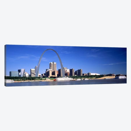 Skyline Gateway Arch St Louis MO USA Canvas Print #PIM367} by Panoramic Images Canvas Artwork