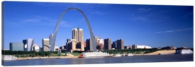 Skyline Gateway Arch St Louis MO USA Canvas Print #PIM367