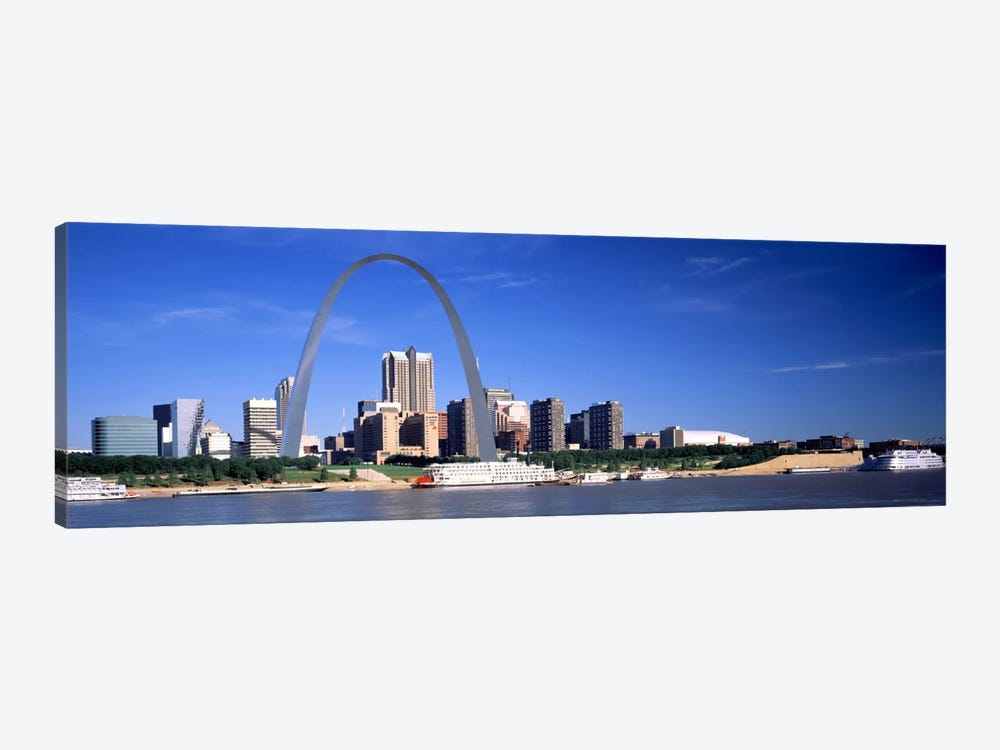 Skyline Gateway Arch St Louis MO USA by Panoramic Images 1-piece Art Print