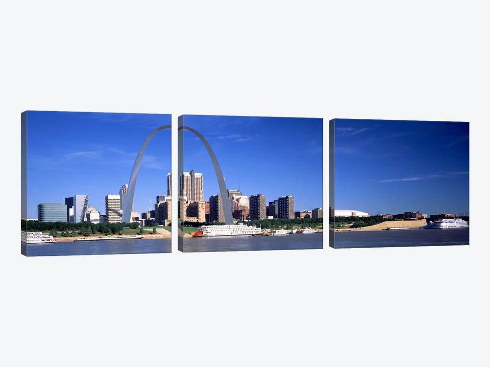 Skyline Gateway Arch St Louis MO USA by Panoramic Images 3-piece Canvas Art Print