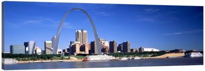 Skyline Gateway Arch St Louis MO USA Canvas Art Print