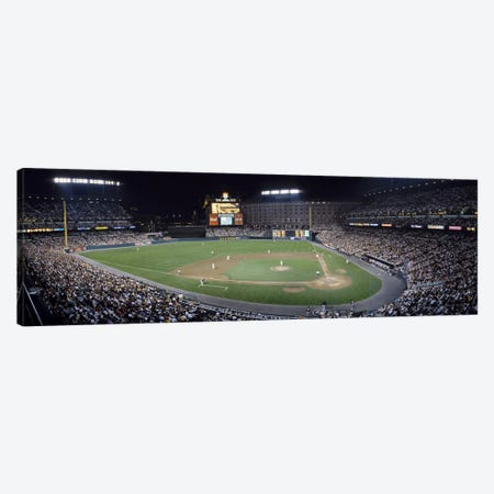 Baseball Game Camden Yards Baltimore MD Canvas Print #PIM3680} by Panoramic Images Canvas Artwork
