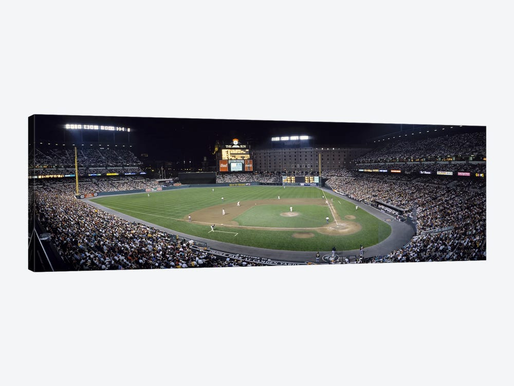 Baseball Game Camden Yards Baltimore MD by Panoramic Images 1-piece Canvas Wall Art