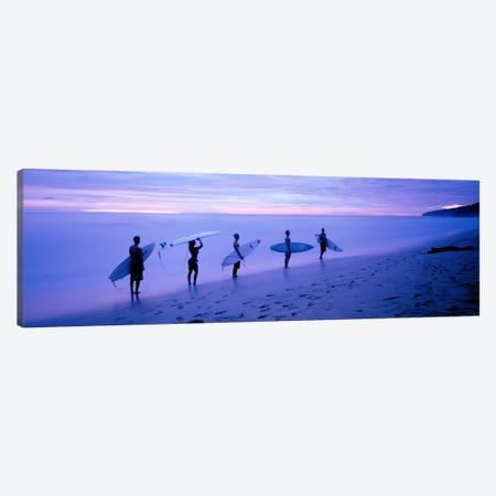 Surfers on Beach Costa Rica Canvas Print #PIM3683} by Panoramic Images Canvas Wall Art