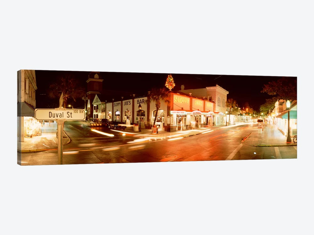 Sloppy Joe's Bar, Duval Street, Key West, Monroe County, Florida, USA by Panoramic Images 1-piece Canvas Artwork