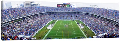 NFL Football, Ericsson Stadium, Charlotte, North Carolina, USA Canvas Art Print