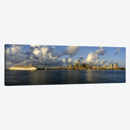 Cruise ship docked at a harbor, Miami, Florida, USA Canvas Print #PIM3686} by Panoramic Images Canvas Art Print