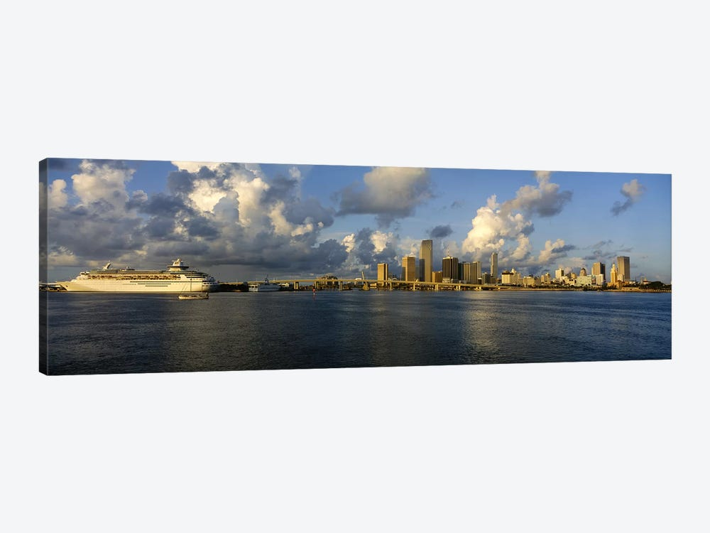 Cruise ship docked at a harbor, Miami, Florida, USA by Panoramic Images 1-piece Canvas Art