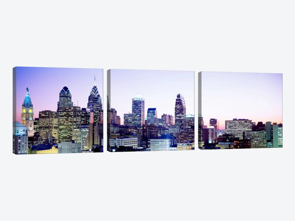 Philadelphia PA #3 3-piece Canvas Art Print