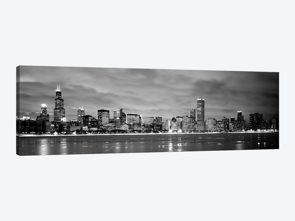 Buildings at the waterfront, Chicago, Illinois, USA by Panoramic Images 1-piece Canvas Artwork
