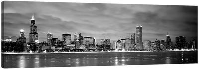 Buildings at the waterfront, Chicago, Illinois, USA Canvas Art Print