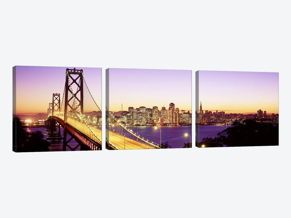 San Francisco CA by Panoramic Images 3-piece Canvas Art