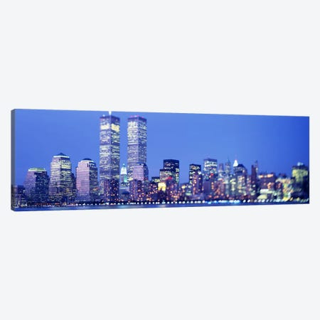 Evening, Lower Manhattan, NYC, New York City, New York State, USA Canvas Print #PIM3694} by Panoramic Images Canvas Artwork