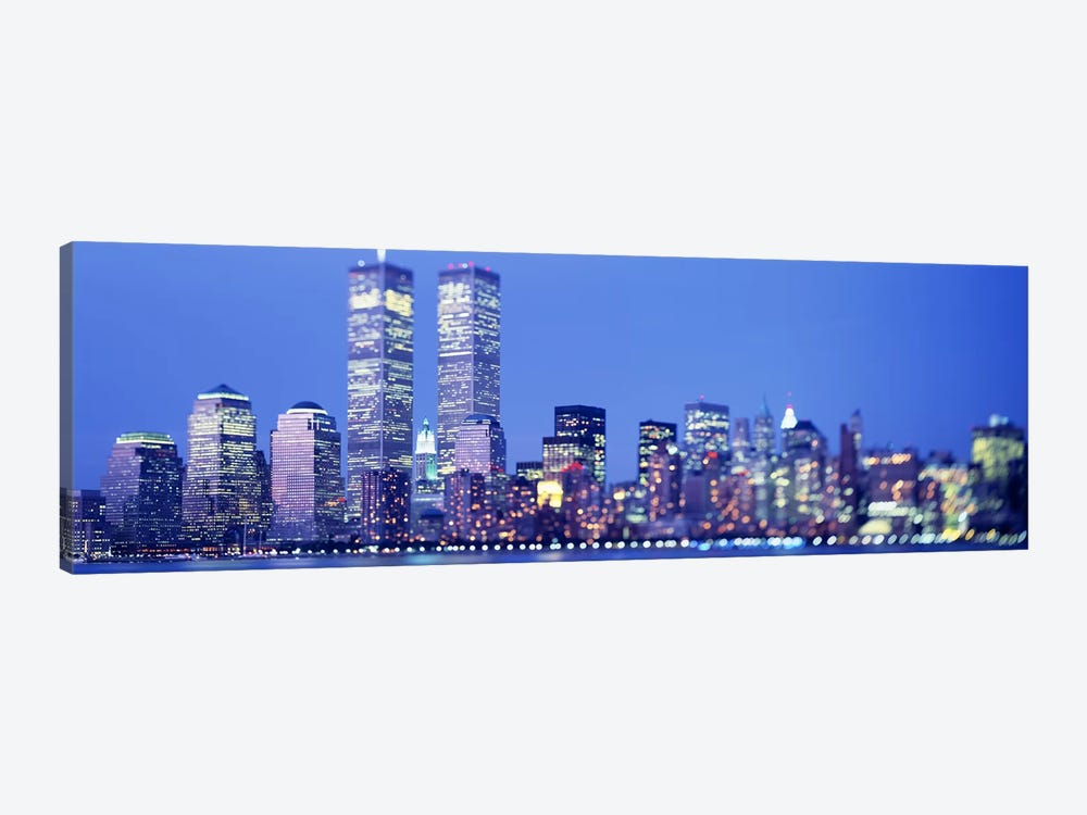 Evening, Lower Manhattan, NYC, New York City, New York State, USA by Panoramic Images 1-piece Canvas Print