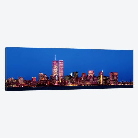 Evening Lower Manhattan New York NY Canvas Print #PIM3695} by Panoramic Images Canvas Art