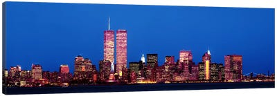 Evening Lower Manhattan New York NY Canvas Print #PIM3695