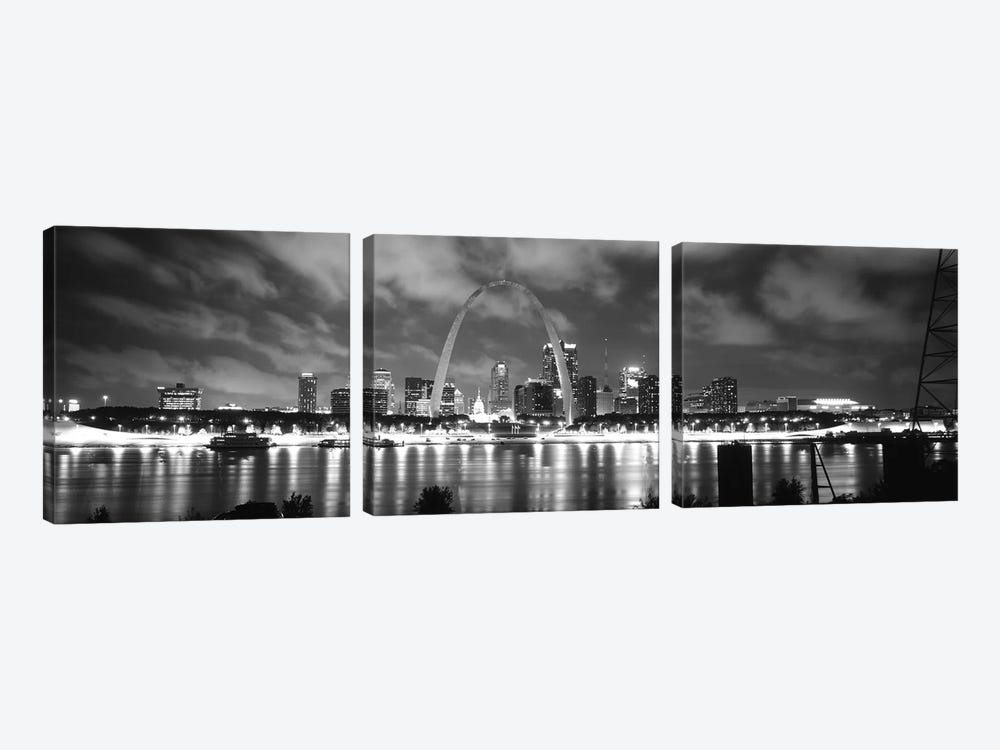 Evening St Louis MO by Panoramic Images 3-piece Canvas Art Print