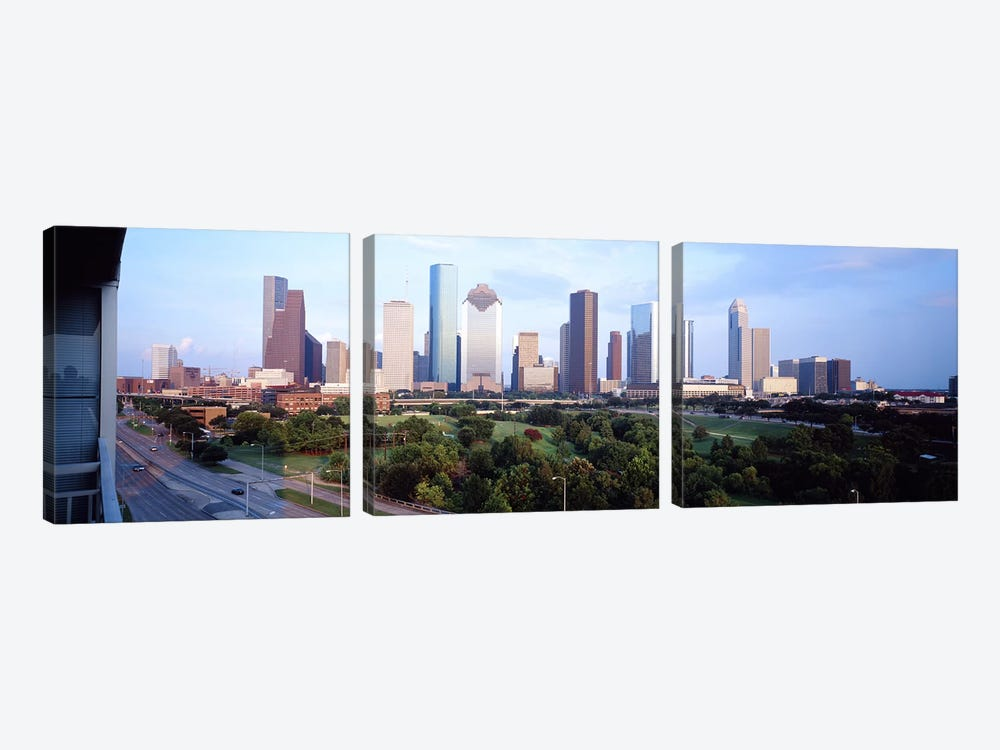 Houston TX by Panoramic Images 3-piece Canvas Art