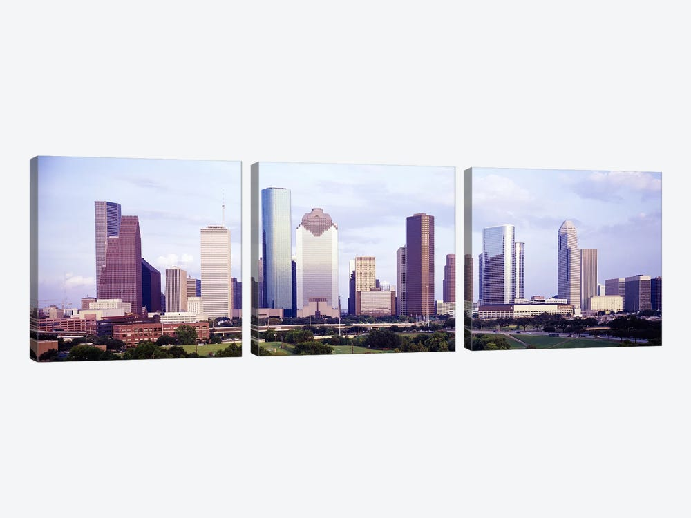 Houston TX #2 3-piece Canvas Print