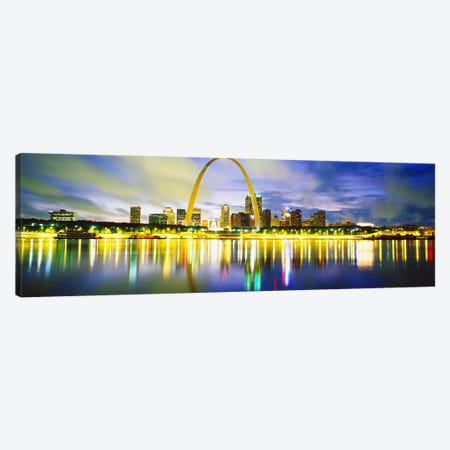 EveningSt Louis, Missouri, USA Canvas Print #PIM3702} by Panoramic Images Canvas Print